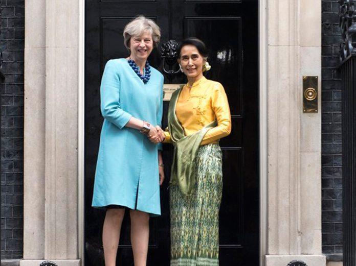 Theresa May and burmese counselor