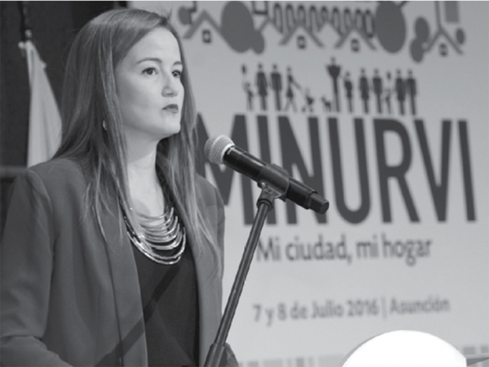Soledad Núñez, Minister of the National Secretariat for Housing and Habitat (SENAVITAT)