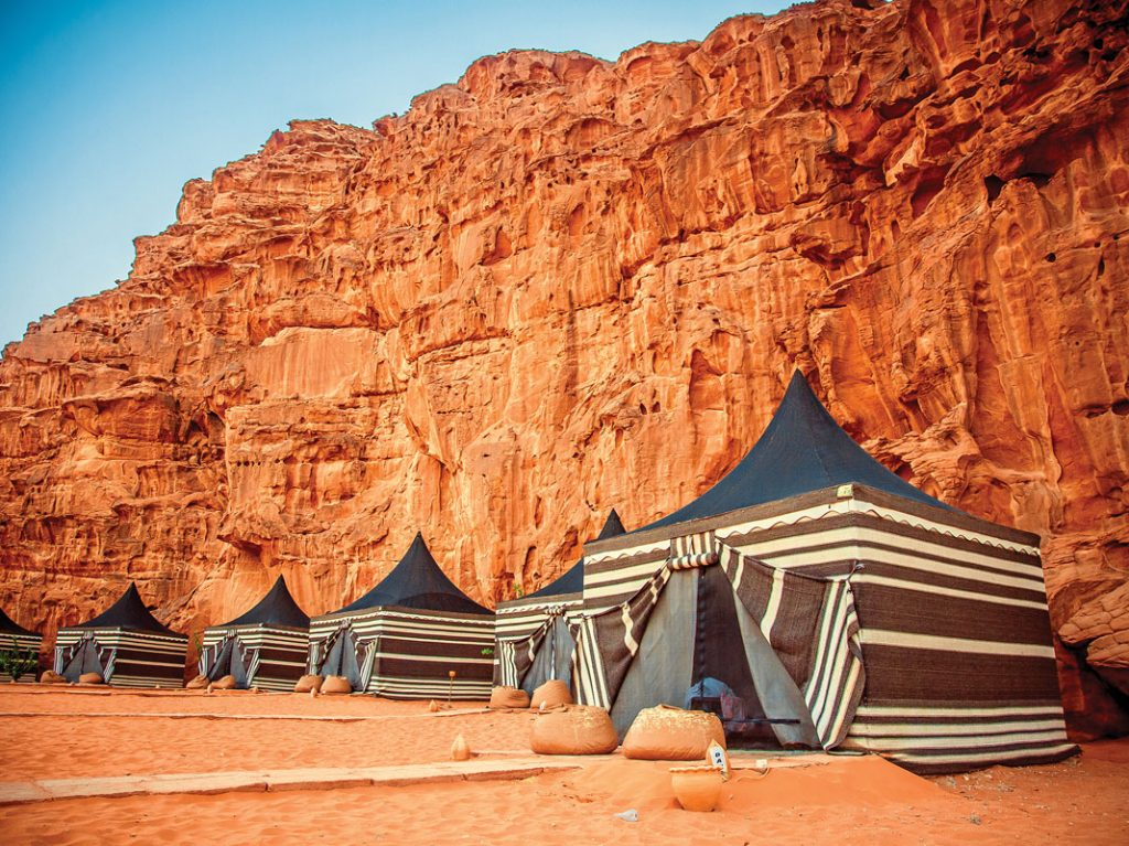 Wadi Rum overnight set up